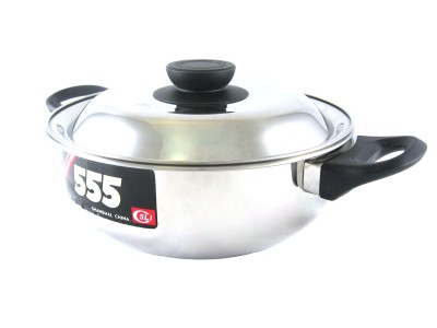 555 Stainless Steel Shallow Cooking Pot