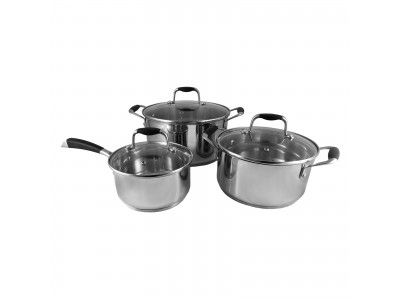 555/AMARK Tri-Ply Stainless Steel Cookware 3-pc Set