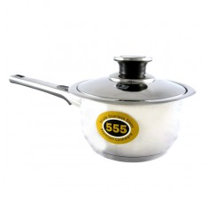555 Stainless Steel 48 Series Saucepan with Tri-Ply Base