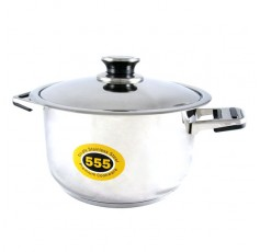 555 Stainless Steel 48 Series Cooking Pot with Tri-Ply Base